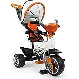 INJUSA - Triciclo Body Max Naranja para Bebés a partir de 10 Meses con Control Parental de Dirección, color (3254)