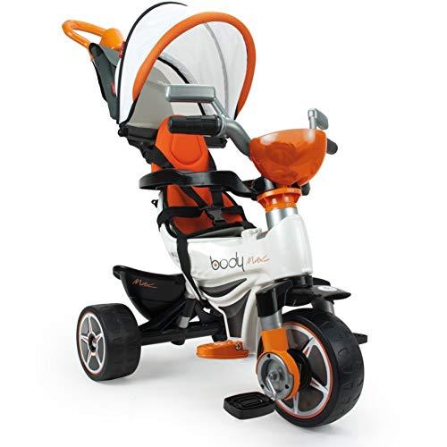INJUSA - Triciclo Body MAX para bebés a Partir de 10 Meses con Control Parental de dirección, Color Naranja (3254)