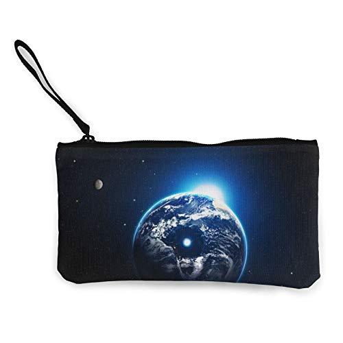 Bolsa de lona con cremallera, bolsa de cosméticos de viaje con cremallera, bolsa de maquillaje multifunción para teléfono móvil, bolsa de lápiz con asa
