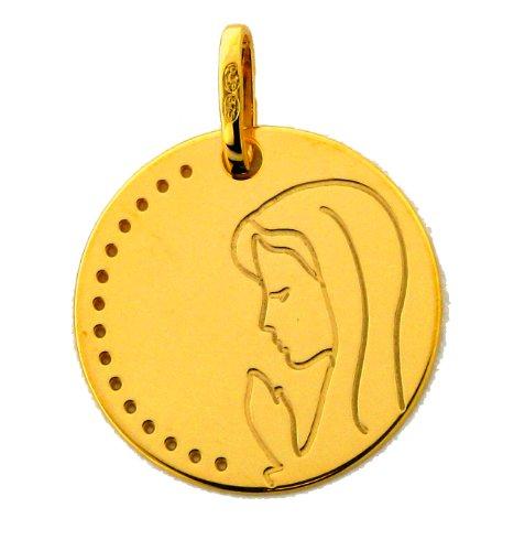 Medalla DE bautizo virgen 16 mm, oro, 9 K