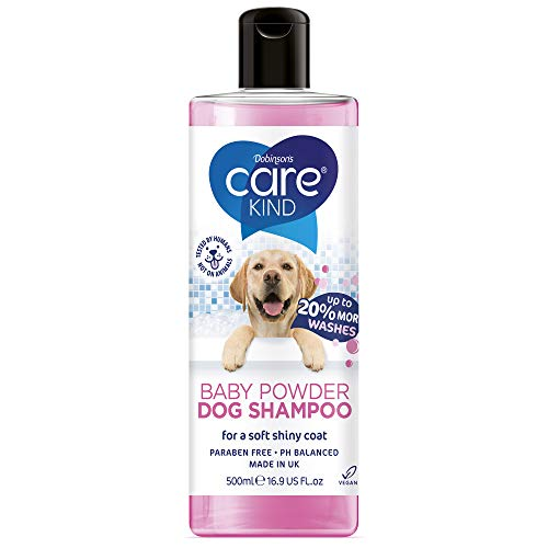 CAREKIND Baby Powder Dog Shampoo 500ml professional dog grooming...