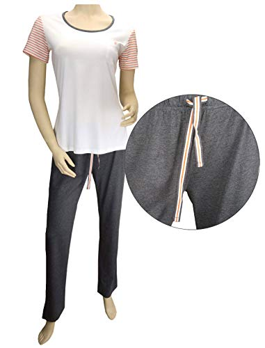 TCM Tchibo Tchibo Damen Schlafanzug Pyjama Kurzarm (L 44/46)