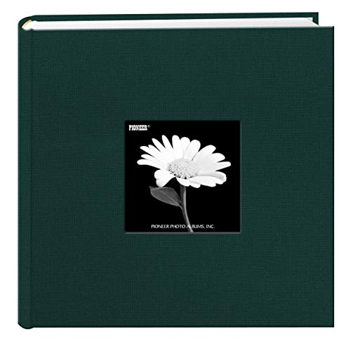 Fabric Frame Cover Photo Album 200 Pockets Hold 4x6 Photos, Majestic Teal