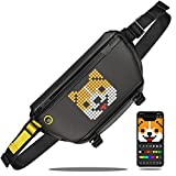 Divoom Pixoo Pixel Art Sling Mochila Nevera with App Controlled 16X16 LED Screen, Water Resistant Mochilas Hombre with Multi-Pockets, Large Capacity Mochila Mujer for Hiking, Outdoor Activities