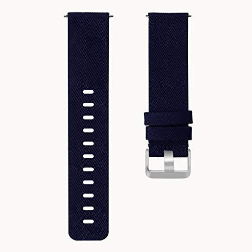 Uhrenarmbänder Gewebte Straps Uhr Leinwand Armband Einstellbar Ersatz Smartwatch Sport-Armband Für Frauen Männer Jugend Kinder(Wahl Von Farbe/Größe) (Color : Blue, Size : S)