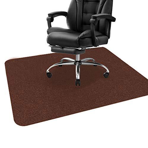 ping bu Alfombrilla para silla de oficina, para suelos de madera dura, protector de suelo, para silla de oficina, alfombra multiusos para el hogar (90 x 120 cm, marrón oscuro)