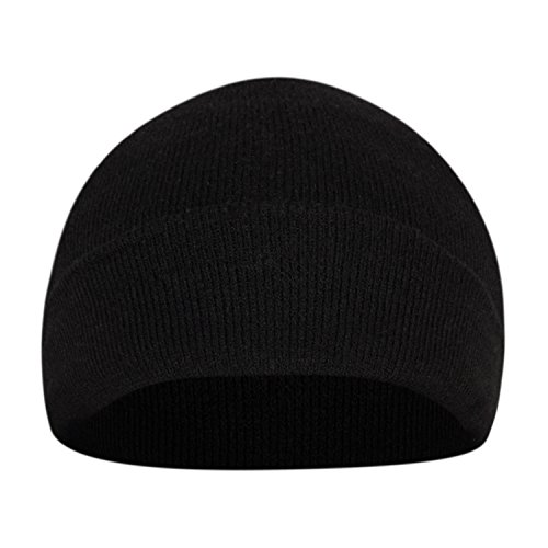 FabSeasons Woolen Winter Skull Cap Black