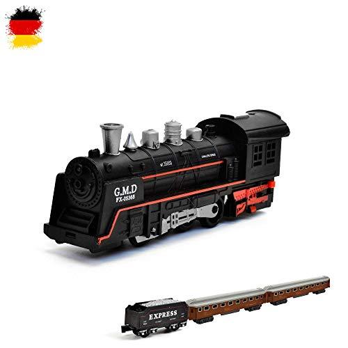 HSP Himoto Elektrische Eisenbahn Starter-Set, Zug, Dampf-Lok , Soundsimulation, Modell-Lokomotive, Komplett-Set