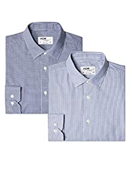 A wardrobe essential, these versatile mens shirts are designed to complement work trousers or jeans for a modern, smart look. French placket, poplin weave & no pockets for a clean style Also available in Slim Fit