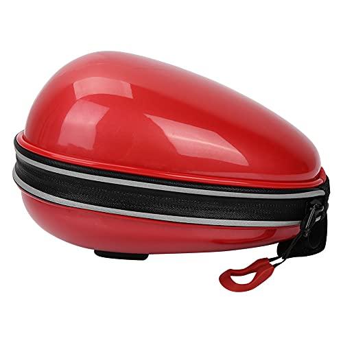 Socobeta Fahrrad-Satteltasche, Mini-Hartschalen-Hecktasche Fahrrad-Heck-Hecktasche Einfach zu speichern für Fahrradzubehör für Outdoor-Produkte(rot)