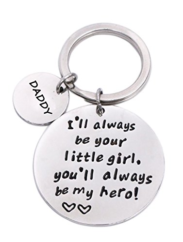 Keychain Gifts for Daddy Father - Daddy Gift Idea from Wife Daughter Son Kids, Stainless Steel, with Gift Box, Christmas Birthday Fathers Valentines Day Gift for Men Husband (Be Your Girl)