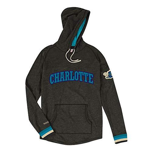 Mitchell & Ness Charlotte Hornets Lightweight Pullover NBA Hoodie Schwarz, XL