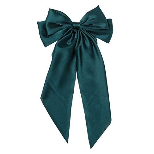 COSYOO Mujeres arco francés Barrette moda vintage bowknot diseño banda de pelo color sólido lazos cinta barrette mujeres pelo clip pelo pasador