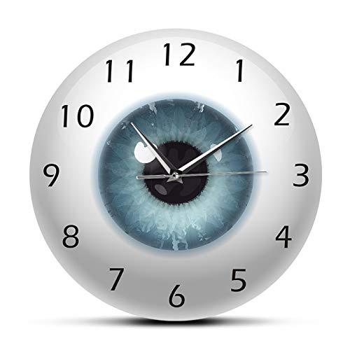 Reloj de Pared El Ojo Globo Ocular Pupila Vista Central Oftalmología Reloj de Pared silencioso Todo lo ve Anatomía del Cuerpo Humano Novedad Reloj de Pared Regalo