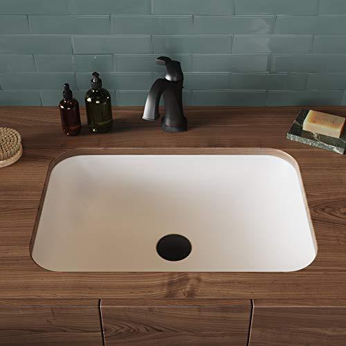 Kraus Natura - Fregadero para baño, Moderno, Rectangular, Undermoun