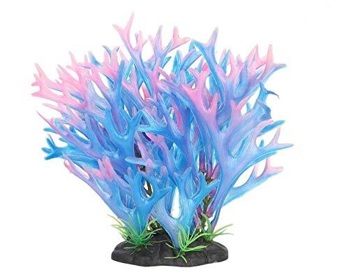 Hffheer Aquarium Kunststoff Pflanze Aquarium Simulation Korallen Pflanze Aquarium Künstliche Kunststoff Pflanzen Geweih Korallen Gras Dekoration für Aquarium Garten Länder...