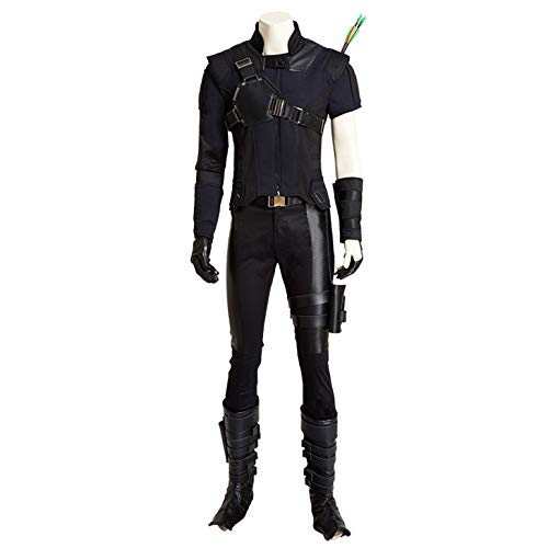 nihiug Costume Cosplay di Capitan America 3 Civil War Hawkeye Set Completo Personalizzato Puntelli Halloween,Black-XL
