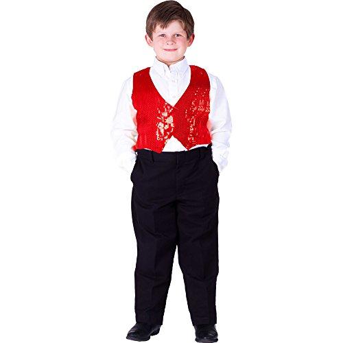 Dress Up America Kindervest met pailletten, rood