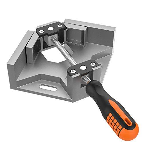 Yihaifu Aleación de Aluminio Sola manija 90 Grados de ángulo Recto del Grado de carpintería Abrazadera de la carpintería del Marco Marco de la Abrazadera Carpeta de la Herramienta Esquina de la Foto