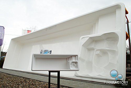 Piscina grande de plástico reforzado de vidrio con molde en