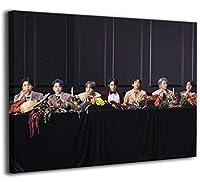 韓流 防弾少年団 Bts V ポスター 油絵 アートパネル アートフレーム モダン ポスター フレーム装飾画 キャンバス絵画 アートボード 部屋飾り 壁の絵 壁掛け ソファの背景絵画 木枠セット30x40cm