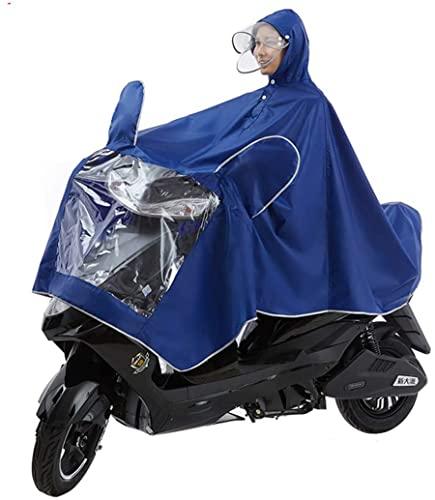 LOJALS Moto Impermeable Poncho Alargado, Movimiento Eléctrico Scooter Motocicleta Capa De Cabo Gran Lluvia, Persona Motociclismo Individual Anti-Niebla,B