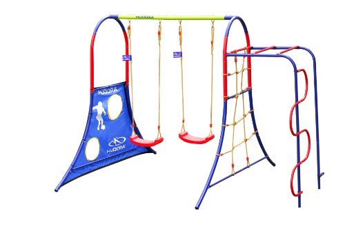 HUDORA Spielplatz für den Garten mit Kinder-Schaukeln & Klettergerüst - 64019