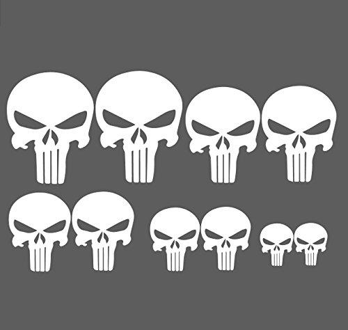 the Punisher Aufkleber Set 10 Stück Punisher sticker Skull Aufkleber Buggy / Motorrad / Autoaufkleber Umweltzone