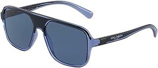 Dolce & Gabbana - Gafas de sol DG6134 325880 Gafas AZUL TRANSPARENTE/NEGRO Hombre color Azul lente azul talla 57 mm
