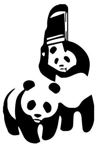 WWF Panda Funny - Sticker Graphic - Auto, Wall, Laptop, Cell, Truck Sticker for Windows, Cars, Trucks