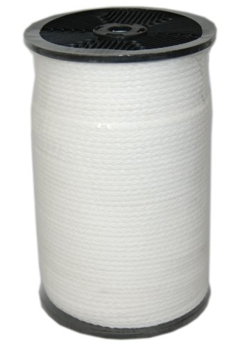T.W Evans Cordage 27-306 1/4-Inch by 1000-Feet Hollow Braid Polypro Rope, White