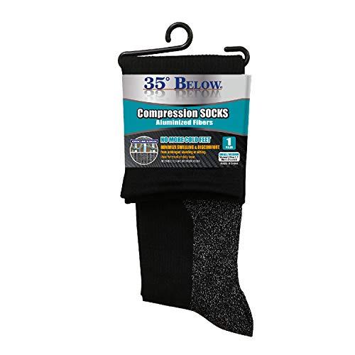 35 Below Compression Socks 1 Pair in Black; Size Small/Medium - 2-in-1...