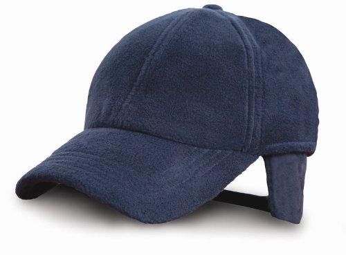 Result - casquette hiver avec protège oreilles RC36 - bleu marine - taille unique - mixte homme/femme