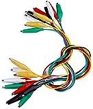 Movilideas - 10 Cables con Pinzas de Cocodrilo para Pruebas - Test 50 cm