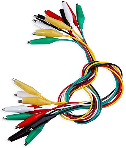 Movilideas - 10 Cables con Pinzas de Cocodrilo...