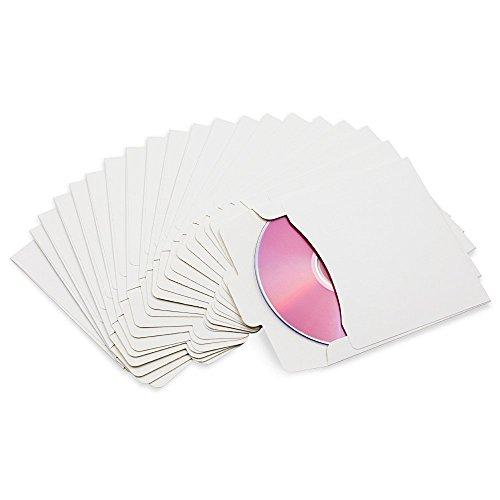 Bestowal CD DVD Kraftpapier Sleeves Umschlag Hochzeit CD DVD Papier Cover Tasche Dicke CD DVD Pack Fall Halter (10Pcs, Weiß)