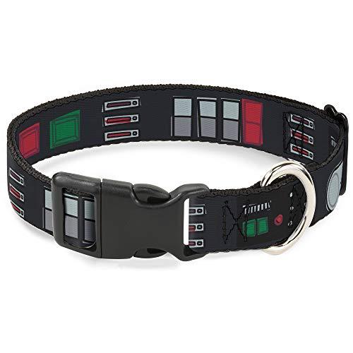 Coleira para cães clipe de plástico Star Wars Darth Vader Utilitário cinto Bounding3 preto cinza vermelho 28 a 43 cm de largura 2,5 cm