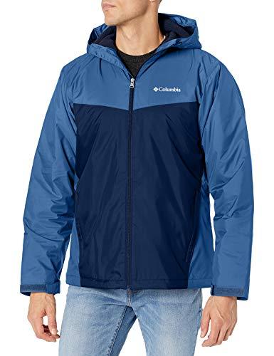 Columbia Men's Glennaker Sherpa Lined Jacket, Night Tide/Collegiate Navy, Large