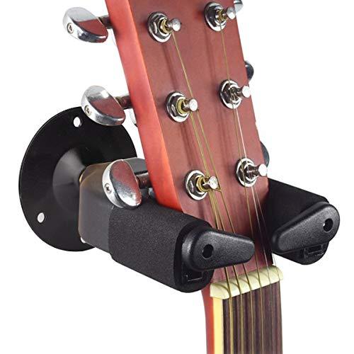 Surplex Universal Gitarren-Haken, Gitarrenständer Gitarren-Wandhalterung Aufhänger Gitarren-Halter mit Auto Lock, für alle Akustikgitarre, klassische Gitarre, E-Gitarre, Bass, Ukulele