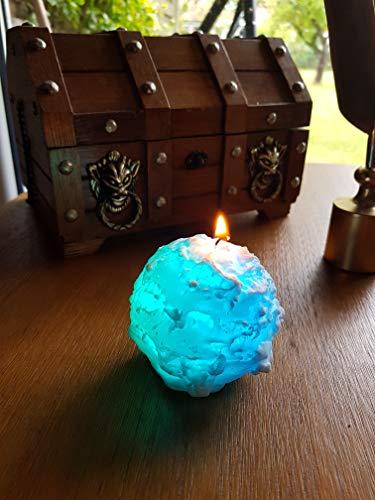 wuselwelt 5001 4er Set Echtwachskerzen Schneeball mit LED Licht-Farbwechsel Kerzen Echtwachs
