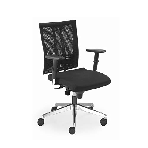 Nowy Styl Net Motion Bürostuhl mit 3D Armlehnen Schwarz ohne Kopfstütze