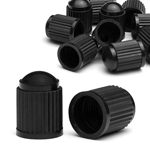 Kitchen Helpis Ventilkappen Auto, 10 Stück (8 Stück + 2 Ersatz) Reifen Ventilkappen Motorrad, Ventilkappen mit Dichtung für stabilen Reifendruck, auch als Fahrrad Ventilkappen geeignet (10)