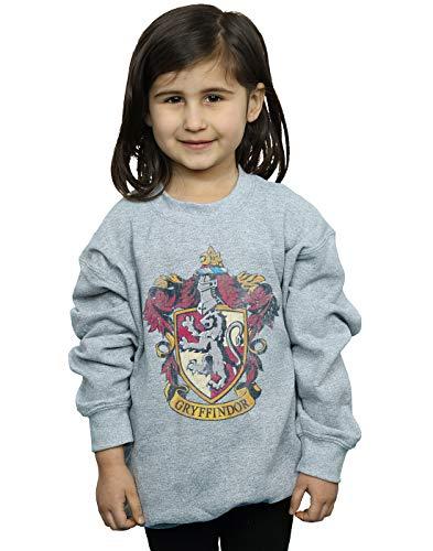 HARRY POTTER niñas Gryffindor Distressed Crest Camisa De Entrenamiento 12-13 Years Gris Sport