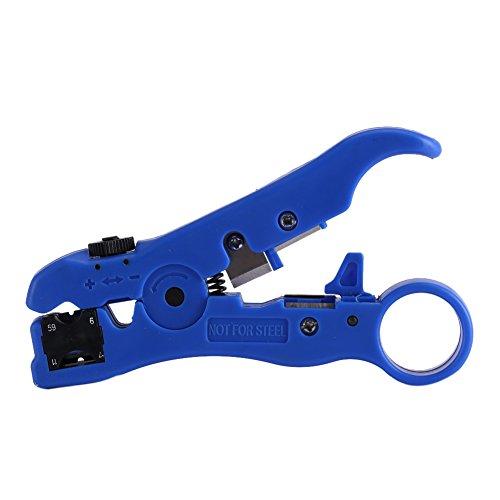 Pelacables, Alicates para prensar, Cortador, Alicates, Herramienta de corte multifuncional para RG59 RG6 RG7 RG11 Cable