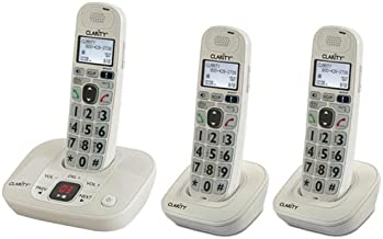 Clarity D712 Moderate Hearing Loss Cordless Phone with D702HS Expandable Handsets (Clarity D712 with (2) D702HS)