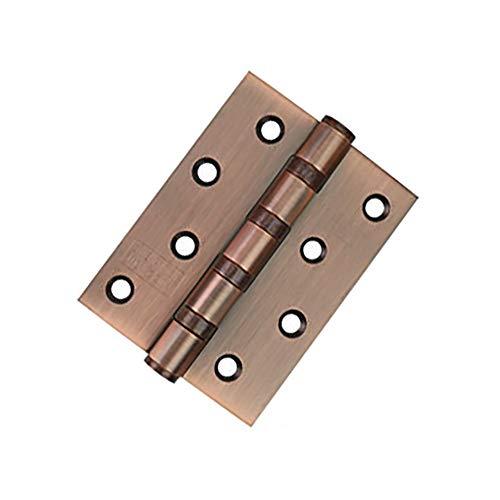 JTRHD Bisagras a Tope Plegables 4 Piezas de 4x3 Pulgadas de Alta Resistencia de Hardware Cepillado bisagras de la Puerta con Tornillos Ventana, gabinetes, Armario