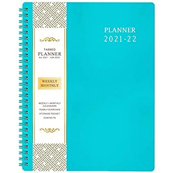 2021-2022 Planner - Jul 2021 - Jun 2022 Weekly & Monthly Planner 8  x 10  Flexible Cover to-Do List Twin-Wire Binding