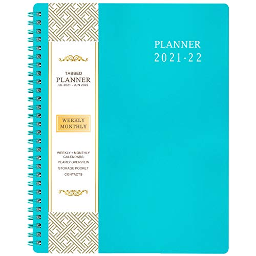 """2021-2022 Planner - Jul 2021- Jun 2022, 8"""" x 10"""", Academic Weekly & Monthly Planner, Flexible Cover, to-Do List, Twin-Wire Binding"""