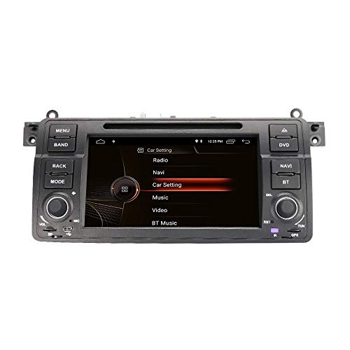 EUNAVI Android 10.0 Autoradio per BMW Serie 3 E46 Radio Lettore DVD con GPS 2 GB + 32 GB Supporta Bluetooth DAB + Android Auto WiFi 4G Telecomando da volante USB MicroSD (E46 2 + 32G)