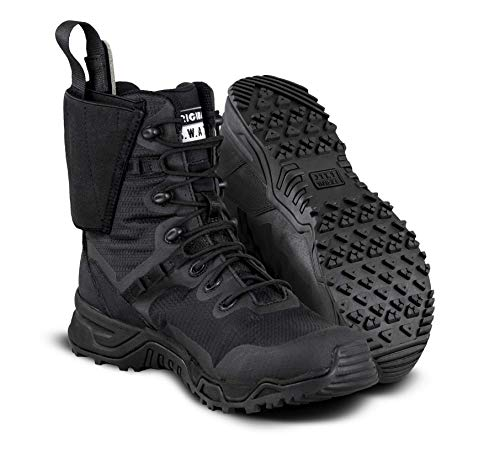 """Original S.W.A.T Alpha Defender 8"""" Tactical Boot with Built in Ankle Holster - Black, 8.5 D US"""